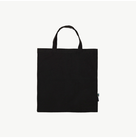 Lightweight Black Eco Totebag, Short